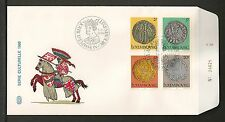Luxembourg #635-638 FDC VF - 1980 Serie Culturelle - Colorful Cachet