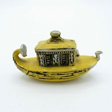 Antique Celluloid Germany Yellow Egyptian Gondola Sewing Tape Measure, NR