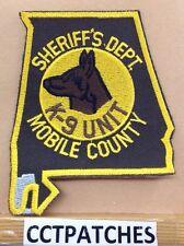 MOBILE COUNTY, ALABAMA SHERIFF K-9 UNIT (POLICE) SHOULDER PATCH AL