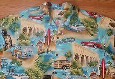 Barefoot in Paradise Hawaiian Shirt (5XL) Woody Cars, Surfers, Beach and more