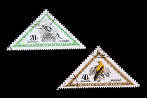 Hungarian Stamps / 1952 /Air Mail /Birds /  Set of 2 used