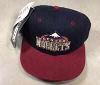 NWT RARE Vintage 90s NBA Denver Nuggets New Era Fitted Hat 5950 Size 7 1/4 Vtg