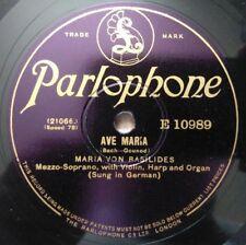 Maria Von Basilides - Ave Maria / Geistliches Wiegenlied - Parlophone E 10989
