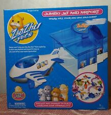 New in Box Zhu Zhu Pets Jumbo Jet and Airport Airplane Hamster Playset Toy Plane