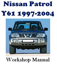 NISSAN PATROL Y61 GU GR 1997 - 2004 FACTORY WORKSHOP SERVICE REPAIR MANUAL ON CD