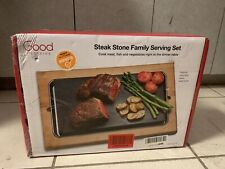 GOOD COOKING- STEAK STONE FAMILY SERVING SET -NEW OPENED BOX