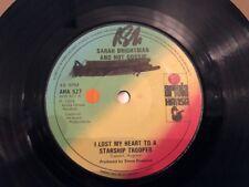 "Sarah Brightman & Hot Gossip - I Lost My Heart To A Starship Trooper 7"" Record"