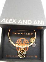 Alex and Ani PATH OF LIFE IV Expandable Wire Bracelet Rafaelian Gold NWTBC