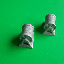 Pair of Rope Reels. (S)  1/72  to 1/96 scale.  Model Boat Fittings.