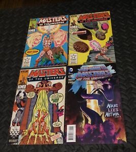 HE-MAN MASTERS OF THE UNIVERSE LOT OF 4 COMICS MARVEL 1986 #1 2 3 & DC #9 2013