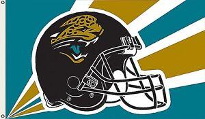 Jacksonville Jaguars Huge 3'x5' NFL Licensed Helmut Flag / Banner -Free Shipping