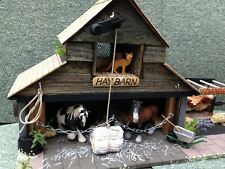 BESPOKE! HAYBARN/STABLE/STORE, WOODEN, FARM BUILDING FOR 'SCHLEICH' FARM ANIMALS