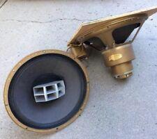 Very Rare Pair Golden Altec 604C (?)  HORN DRIVER Speaker Dimensitone A Crawford