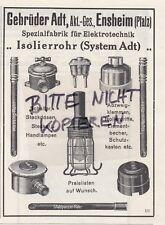 ENSHEIM, Werbung 1912, Gebrüder Adt AG Elektrotechnik-Fabrik