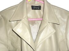 """faux leather coats waterproof fawn colour size 16 from SUZIE 40"""" long"""