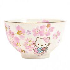 New Hello Kitty Sakura Cherry Blossoms Rice Cup Chawan from JAPAN