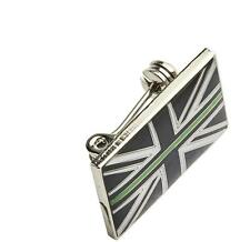 THIN GREEN LINE UK AMBULANCE MEDIC MOURNING BAND RESIN LAPEL BROOCH TIE BADGE