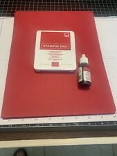 Stampin Up Retired Lot of Lovely Lipstick Cardstock, Ink Pad, Ink Refill,