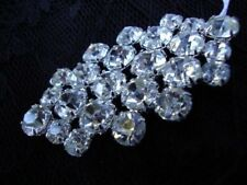 Vintage Clear Czech Rhinestone Silver Tone Metal Jewelry Holiday Accessories
