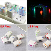 2 Ports USB Wall Charger US Plug 5V 2A AC Power Adapter for Samsung Mobile Phone