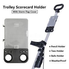 Golf Trolley Scorecard / Score Card Holder Golf Cart Golfer Score Keeper  %NEW