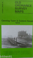 Old Ordnance Survey Map Canning Town & Custom House  London 1914 S66 Brand new