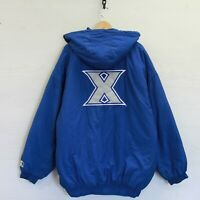 Vintage Xavier Musketeers Starter Insulated Full Zip Jacket Size 2XL NCAA Blue