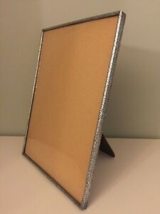 Large Antique Vintage Hammered Pewter Photo Picture Frame Original Glass 31x23cm