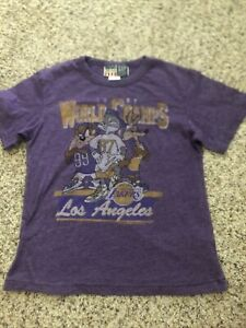 Junk Food For Gap Kids LA Lakers World Champs (1987) Tee Sz 8