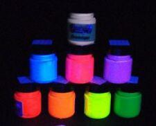 Acrylic Fluorescent Paint UV Blacklight glow 30ml 100ml jar choose a colour
