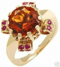 Exquisite Ring with 4.82ctw Genuine Rubies & Citrines