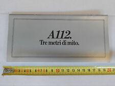 AUTOBIANCHI A112 112  ABARTH 70 HP DEPLIANT PROMO BROCHURE PROMO PROSPEKT