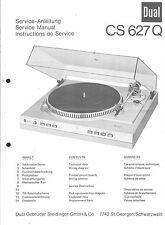 Dual Service Manual für CS 627 Q