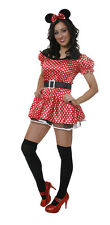 Sexy Minnie Miss Mouse Ladies Adult Fancy Dress Costume NEW UK 12-14