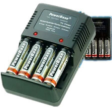 PowerBase Universal AA AAA 9V Charger + 2 x 1800 mAh Rechargeable Popular 712129