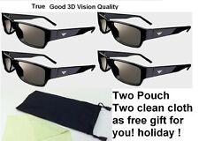 4 Pairs Vizio Theater 3D Passive Glass Free Cloth for M3D420SR M3D460SR M3D550SR