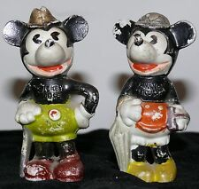 MICKEY MOUSE MINNIE MOUSE BISQUE'S JAPAN WALTER E DISNEY 1930'S