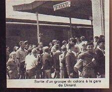 1964  --  SORTIE GROUPE DE COLONS DE LA GARE DE DINARD