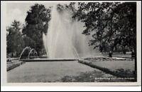 Blankenburg Thüringen DDR AK 1953 Partie in den Thie anlagen Springbrunnen