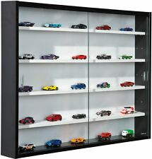 Display Cabinet Glass Collection Cars Presentation Unit Models Trains Miniatures