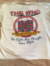 Vintage The Who 1989 Tour T Shirt Tee 25th Anniversary Tour