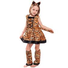 Children Animal Tiger Cat Leopard Costumes Fancy Dress Cosplay Party Halloween