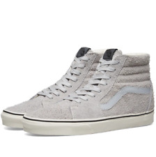 258492e6db4 Vans SK8 Hi Hairy Suede Gray Dawn Men s Classic Skate Shoes Size 8.5
