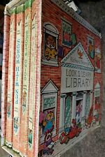 Richard Scarry's Look and Learn library vintage 4 book box set