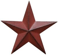 Metal Country Burgundy Antique Barn Star Country Primitive Star Wall Décor 24""
