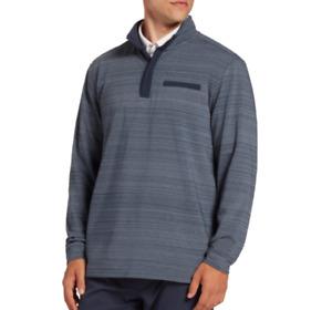 Walter Hagen Quarter Zip Golf Pullover Mens Small Authentic Mid Weight Navy Blue