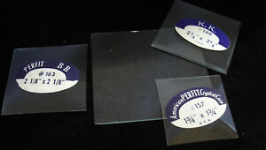 Miniature Square & Rectangular Clock Glass - No Longer Made! (C-700)