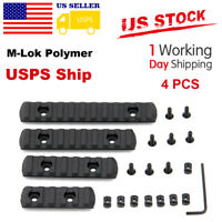 4pcs M-LOK Polymer Rifle Picatinny Weaver Rail Section Set for MLOK Hand Guard