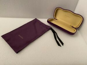Gucci sunglass case violet velvet with matching dust bag