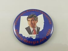 Democratic National Convention Atlanta Georgia July 1988 Dukakis Button 3.5""